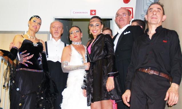 Miembros Asociacion de baile santa isabel en la Exhibicion de 1 de Junio 2014
